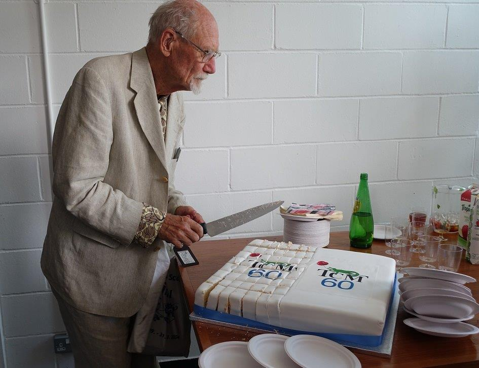 Volker cuts the TCM 60th cake